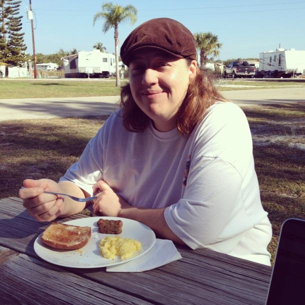 Enjoying Breakfast in the Sun