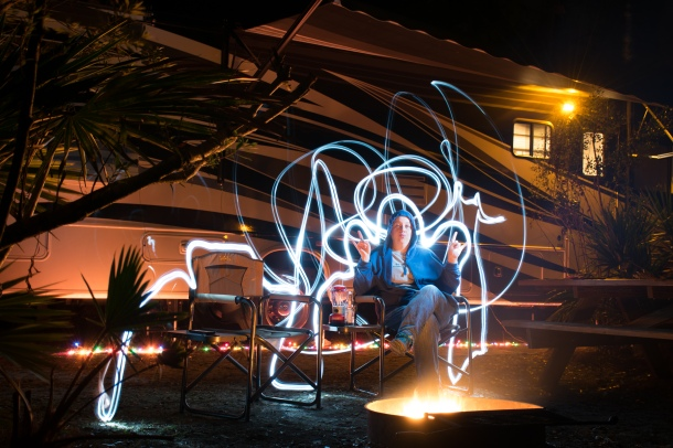 Goofing Around with Light Painting