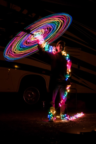 Painting With Christmas Lights